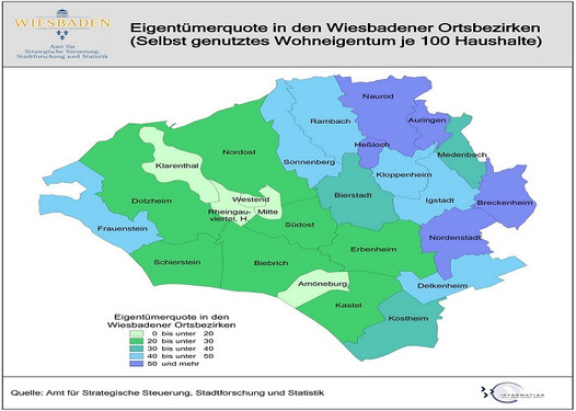 Wiesbaden Karte.Wiesbadenaktuell Wie Wohnt Wiesbaden Wissenswertes In Tabellen
