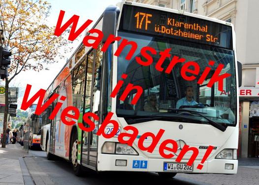 Busstreik Wiesbaden